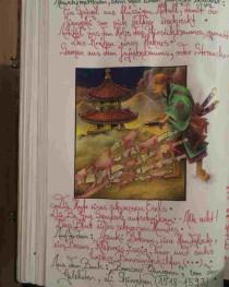 Fabelwesen, Der Jiang Shi, Buntstiftzeichnung von Sebastian Misseling