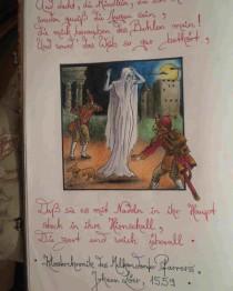 """Die weiße Frau, Bleistiftzeichnung von Sebastian Misseling, Bildersammlung """"Fabelwesen"""""""