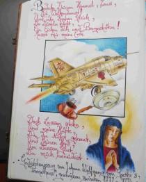 """Fliegende Untertassen, Bleistiftzeichnung von Sebastian Misseling, Bildersammlung """"Fabelwesen"""""""
