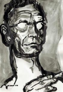 Hermann Hesse, moderne Kunst, lustige Porträts von Nikolaus Pessler