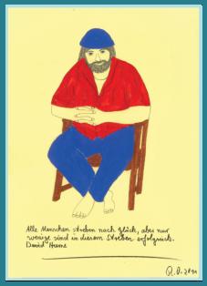Das Streben nach Glück, Acrylbild von Rainer Ostendorf, Freidenker Galerie, Männer und Frauen, Sprüche und Zitate