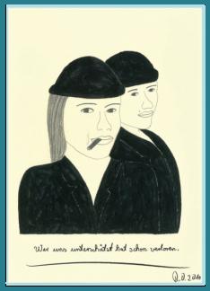 Frauenpower, internationaler Frauentag, Acrylbild von Rainer Ostendorf, Freidenker Galerie, Männer und Frauen