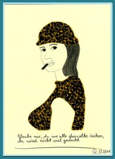 Denken - Acrylbild von Rainer Ostendorf, Freidenker Galerie, Zitate Politik, Weisheiten