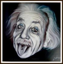 Einstein - Ölbild von Peter Zahrt, Freidenker Galerie, Bilder mit Sprüchen