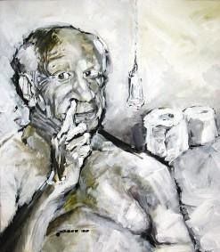 Portrait von Pablo Picasso, Porträit von Nikolaus Pessler, Freidenker Galerie, Was ist Kunst
