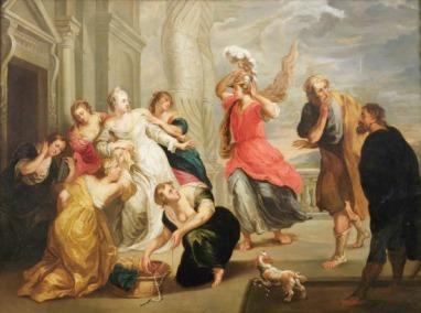 Männer in Frauenkleidern - Peter Paul Rubens - Achilles unter den Töchtern des Lykomedes