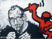 Keith Haring, moderne Kunst, Porträt von Nikolaus Pessler