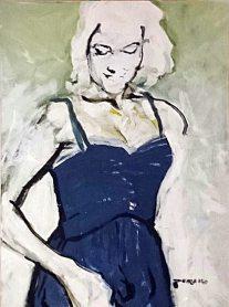 Blue Dress, Nikolaus Pessler. Freidenker Galerie