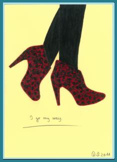 I go my way. Acrylbild von Rainer Ostendorf, Freidenker Galerie, Lebensweisheiten, Zitate