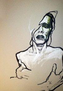 David Bowie, Porträt von Nikolaus Pessler, Freidenker Galerie, schöne Sprüche und Zitate