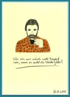 Sprüche zum Nachdenken, Acrylbild von Rainer Ostendorf, Zitate und schöne Sprüche von Freidenkern