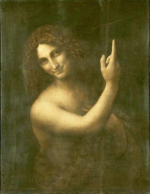 Männer in Frauenkleidern - Leonardo da Vinci - Johannes der Täufer