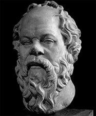 Glücklich werden, glücklich sein - Bild von Sokrates, weise Sprüche