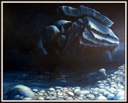 Moderne Kunst, Landschaften Tessin, Ölbild von Peter Zahrt