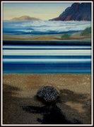 Moderne Kunst, Lanzarote, Ölbild von Peter Zahrt, Freidenker Galerie