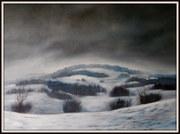 Moderne Kunst, Bodensee, Ölbild von Peter Zahrt, Freidenker Galerie