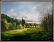 Frühlingsanfang, Frühling am Bodensee, Ölbild von Peter Zahrt, Freidenker Galerie