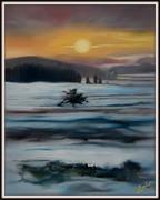 Der Bodensee, Ölbild von Peter Zahrt, Freidenker Galerie
