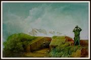 """nach Carl Spitzweg """"Frieden im Land"""" Ölbild von Peter Zahrt"""