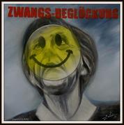 Angela Merkel Zwangs-Beglückung, Karikatur Bilder Politiker, Peter Zahrt