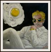 Der hippe Galerist, Karikatur von Peter Zahrt