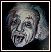 Alber Einstein, Karikatur von Peter Zahrt