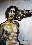 John Lennon, moderne Kunst, lustige Porträts von Nikolaus Pessler