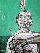 Otto Mühl, moderne Kunst, Porträt von Nikolaus Pessler