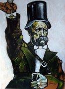 Friedrich Nietzsche, moderne Kunst, Porträt von Nikolaus Pessler