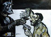 Hitler, moderne Kunst, Porträt von Nikolaus Pessler