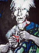 Andy Warhol, moderne Kunst, Porträt von Nikolaus Pessler