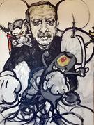 Erdogan Porträt von Nikolaus Pessler