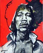 Jimi Hendrix Portrait von Nikolaus Pessler, Freidenker Galerie