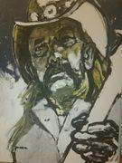 Lemmy Kilmister, Motörhead Portrait von Nikolaus Pessler, Freidenker Galerie