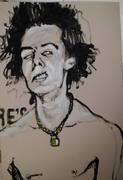 Sid Vicious Porträt von Nikolaus Pessler Freidenker Galerie