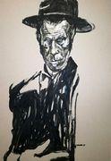 Tom Waits Portrait von Nikolaus Pessler, Freidenker Galerie