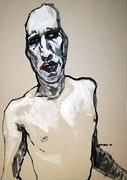 Marilyn Manson Portrait von Nikolaus Pessler, Freidenker Galerie
